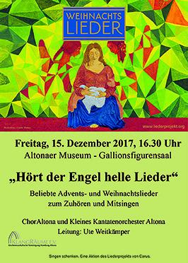 Weihnachtsliedersingen im Altonaer Museum 2017 mit dem ChorAltona und dem Kleinen Kantatenorchester Altona