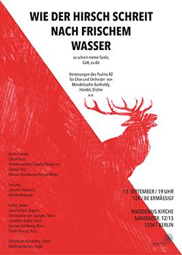 KlangRäume Konzert mit dem Bülowchor Berlin 2014: Psalm 42 - Wie der Hirsch schreit