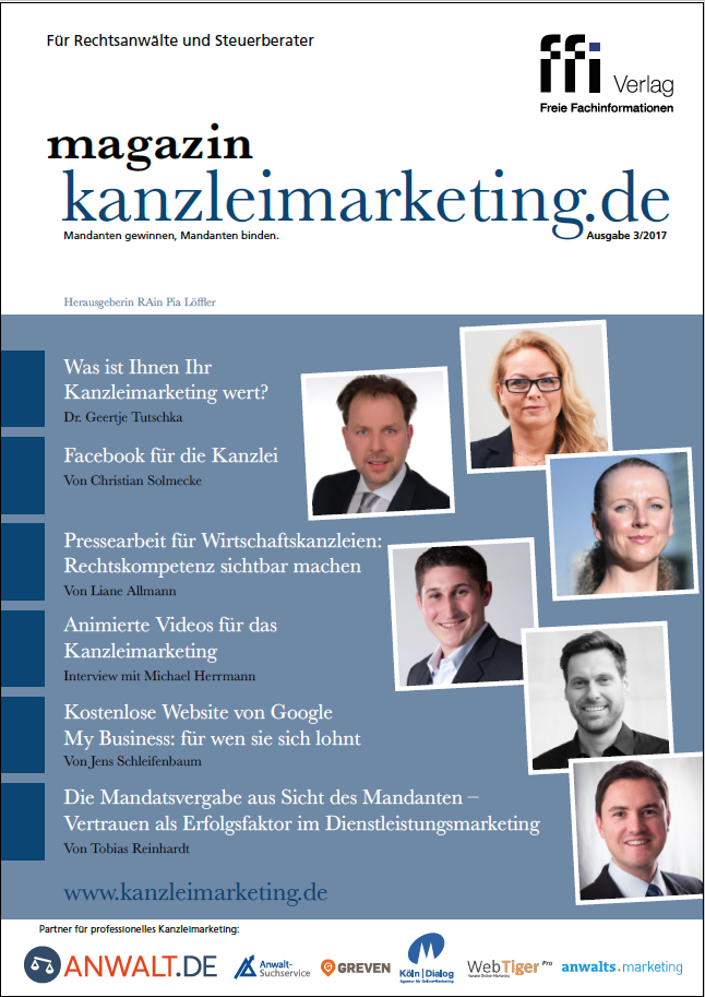Cover Magazin Kanzleimarketing Ausgabe 03/17