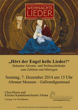 Weihnachtsliedersingen im Altonaer Museum 2014 mit dem ChorAltona und dem Kleinen Kantatenorchester Altona
