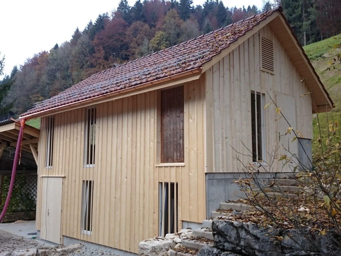 Zimmerei Holz Schopf