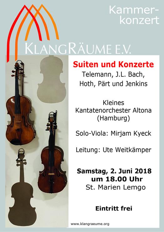 KKO-Konzert mit Suiten und Konzerten am 2.6.2018 in Lemgo
