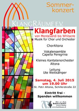 KlangRäume Sommerkonzert 2015: Klangfarben