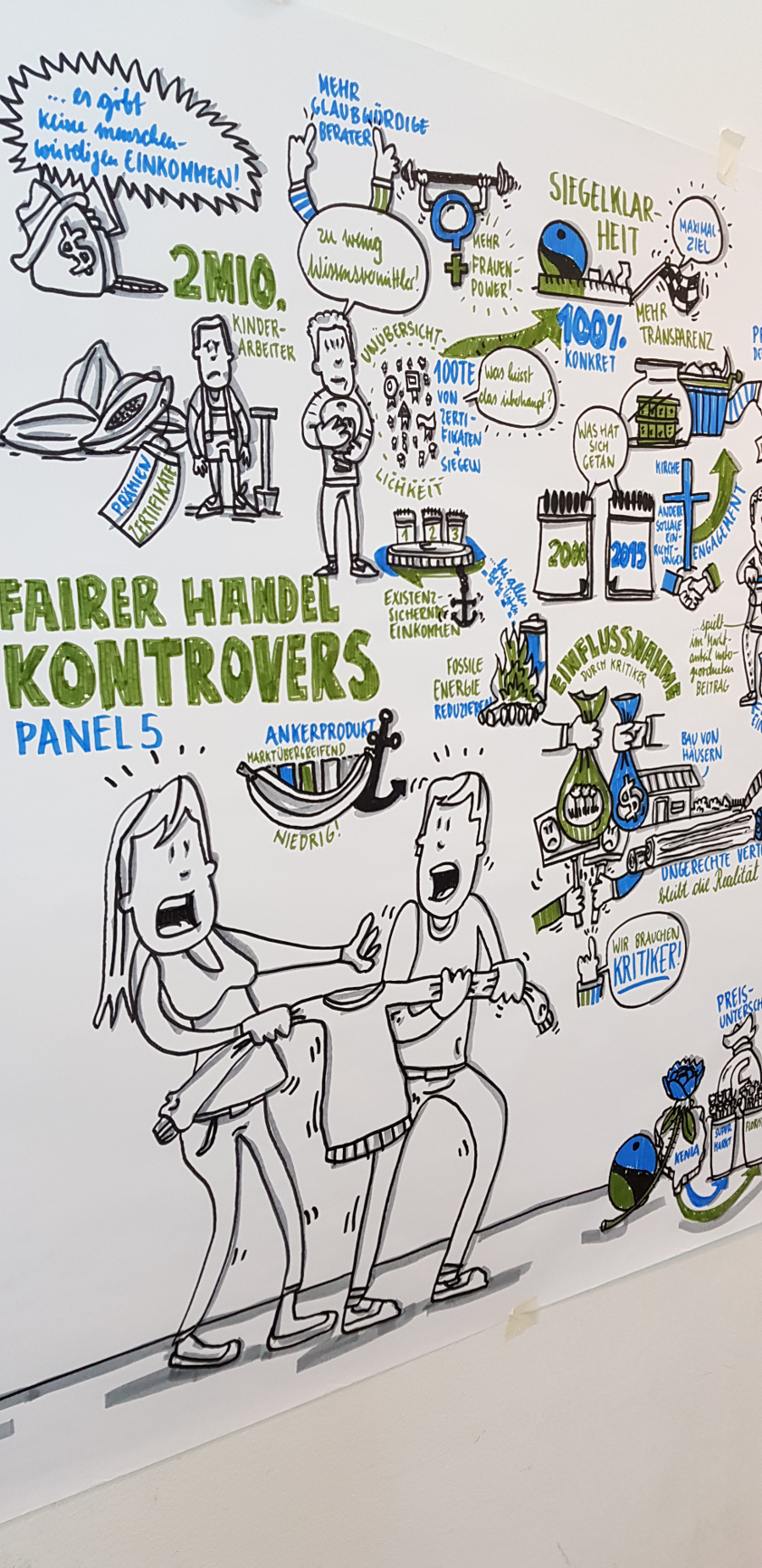 "Graphic Recording ""Fairer Handel"" - Details 1"