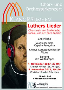 KlangRäume Konzerte 2017: Luthers Lieder