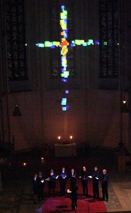 Capella Peregrina bei der Nacht der Kirchen 2014 in der Hauptkirche St. Petri  (Ralf Kopp)