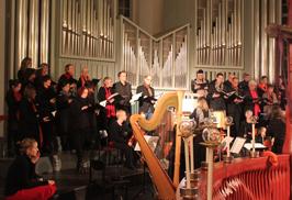 Probe für das Weihnachtskonzert in St. Trinitatis Altona 2013