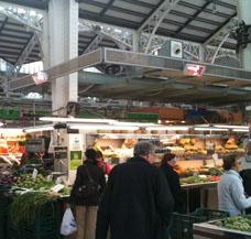 Geschäft Markthalle Marktstand heizen