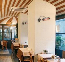 Terrasse Terrassenheizung beheizen Gastronomie