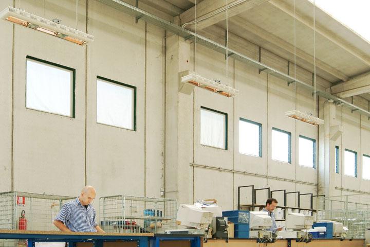 Industrie Halle heizen