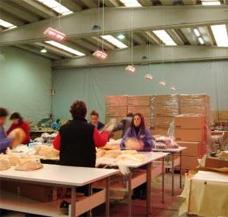 Fertigung Fabrik Halle beheizen