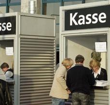 heizen Kassenzone Kassenbereich Messe Personal
