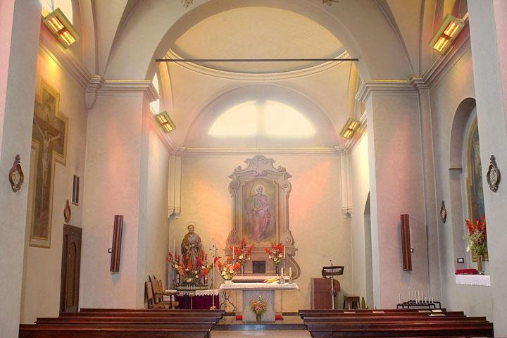 Kirchenheizung beheizen Trauerhalle Bänke