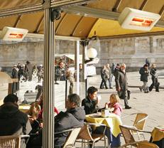 Terrasse Markise Gastronomie beheizen