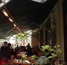 Gastronomieterrasse mit Markise heizen