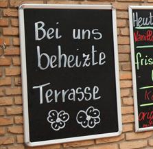 Terrasse heizen Heizstrahler