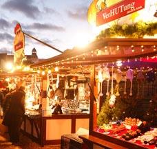 Verkaufsstand Weihnachtsmarkt beheizen Hütte Bude Marktstand Weihnachtsmarkt