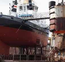heizen Werft Hangar Heizung aussen