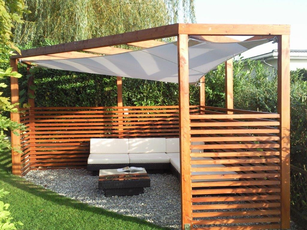 pergola holz mit pflanzkasten. Black Bedroom Furniture Sets. Home Design Ideas