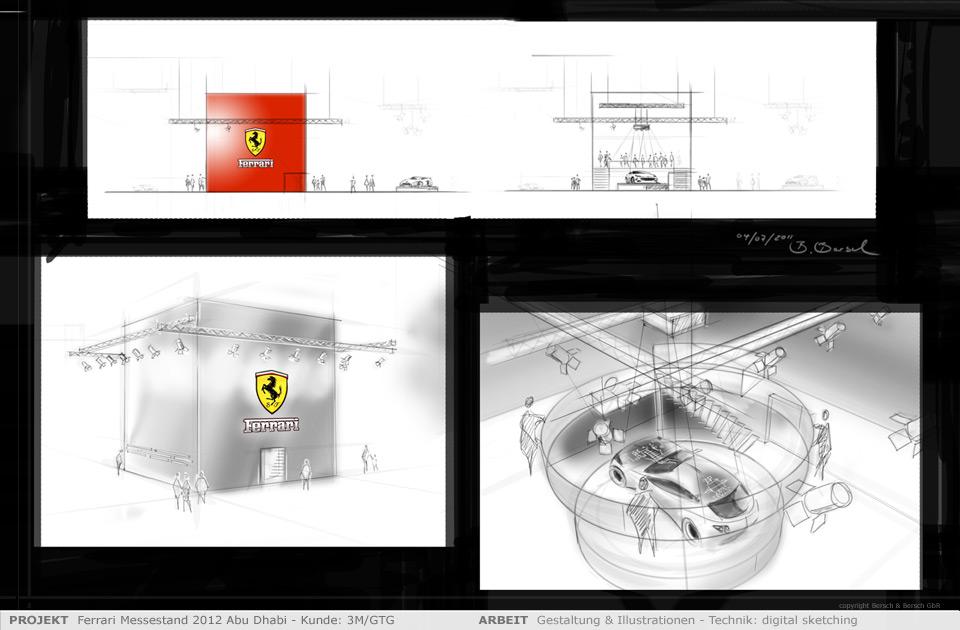 Architektur illustration for Innenarchitektur cad