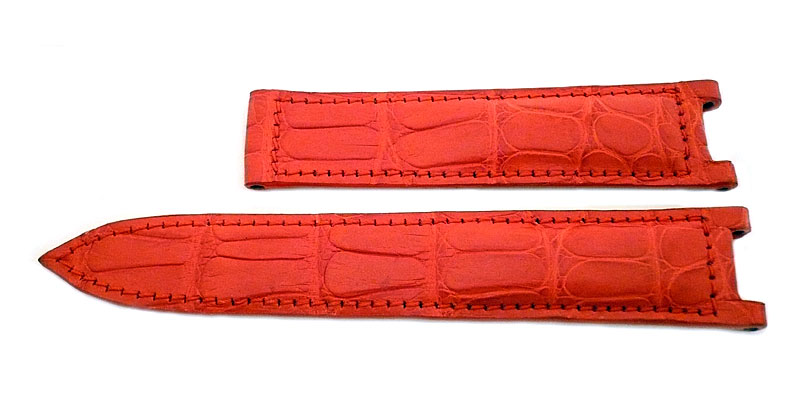 Alligator Uhrenarmband rot Pasha de Cartier