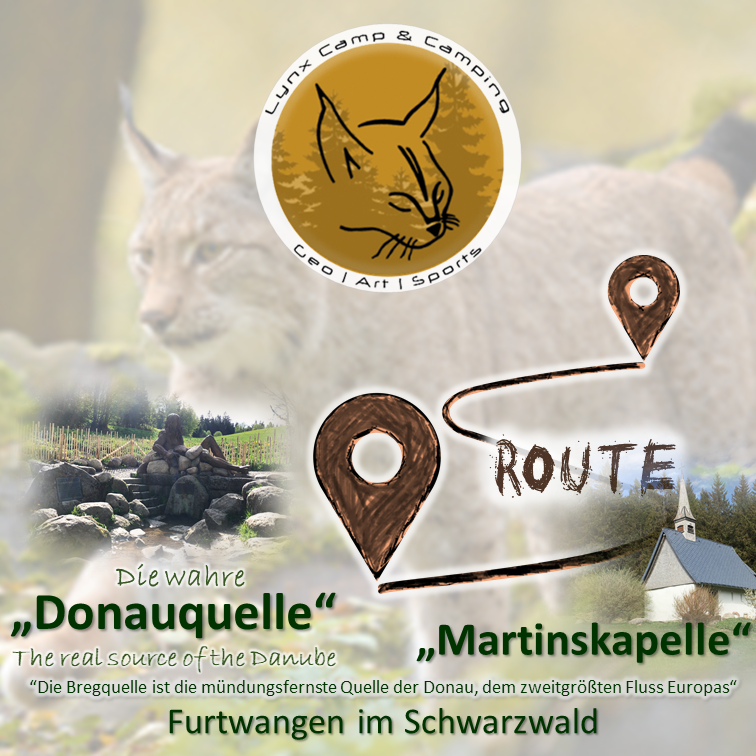 Fotostrecke Donauquelle | Photo route SourceDanube