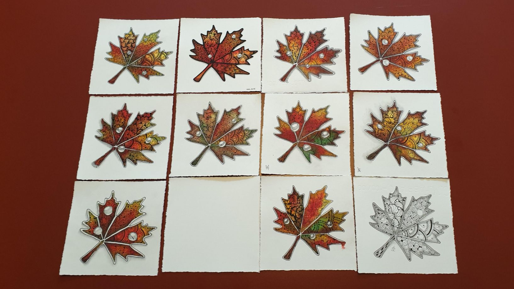 Indian Summer und Zentangle