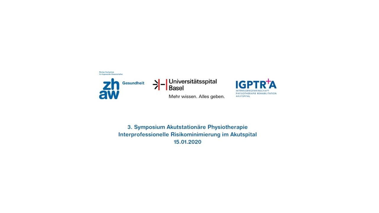 3. Symposium Akutstationäre Physiotherapie 15.01.2020