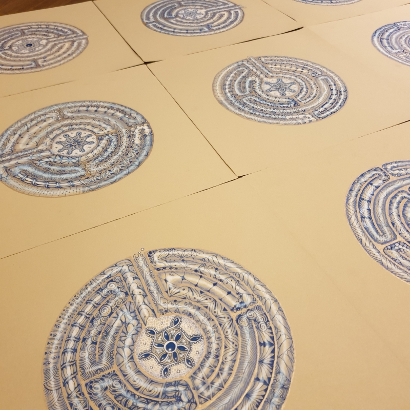 "Zentangle-Projektkurs ""Labyrinth"""