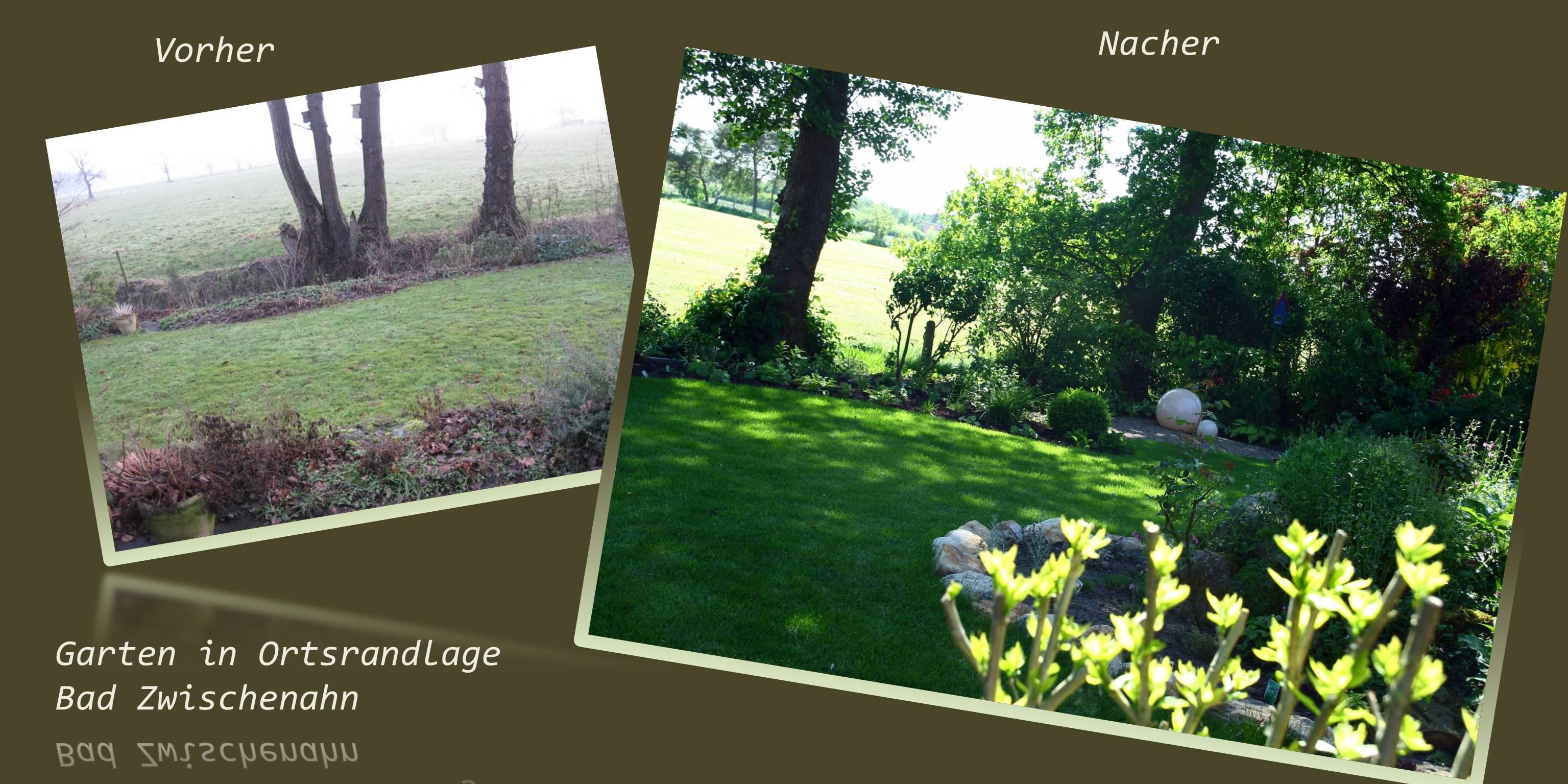 Bilder Gartengestaltung vorher - nachher
