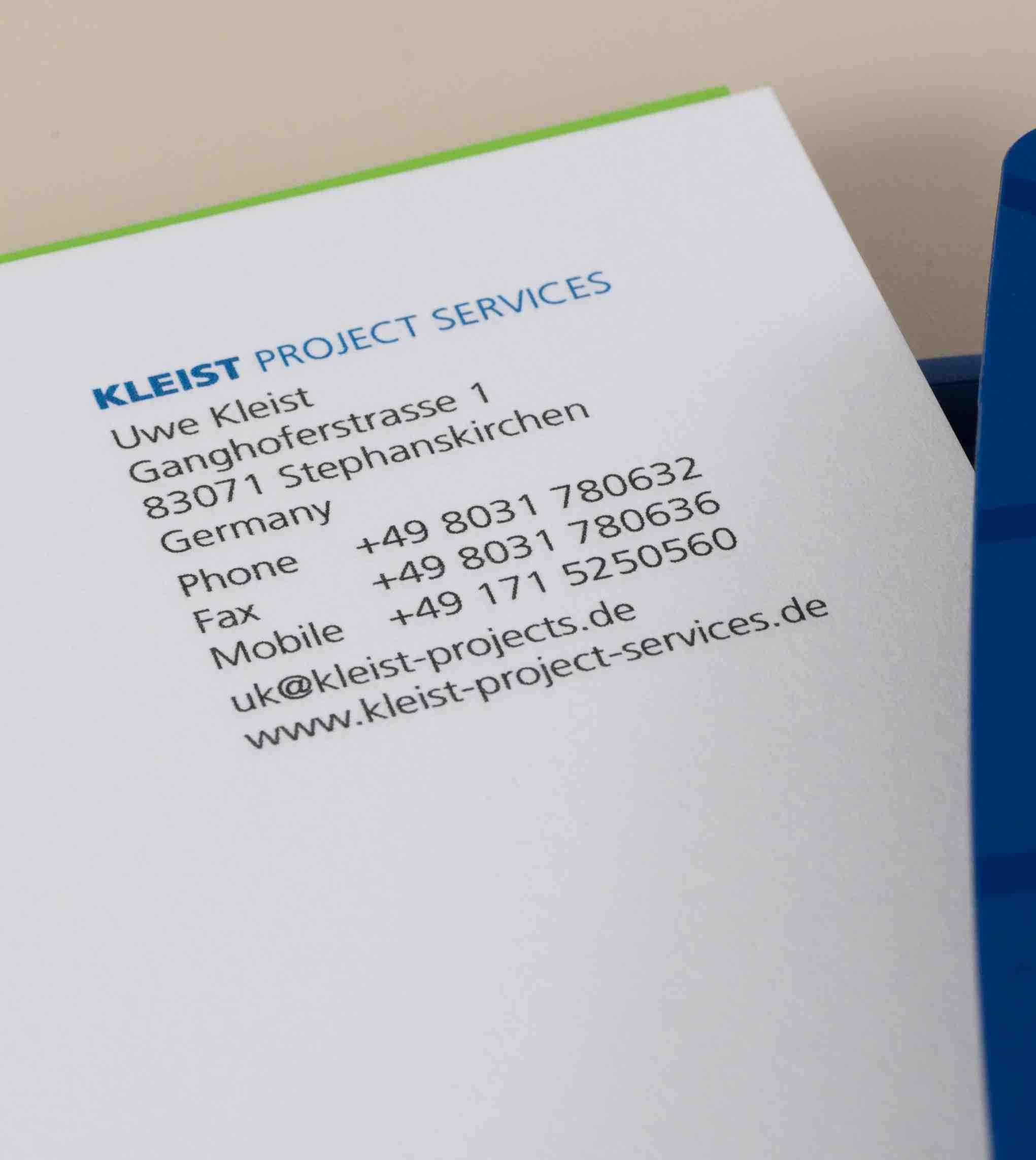 KLEIST Project Services, eMail
