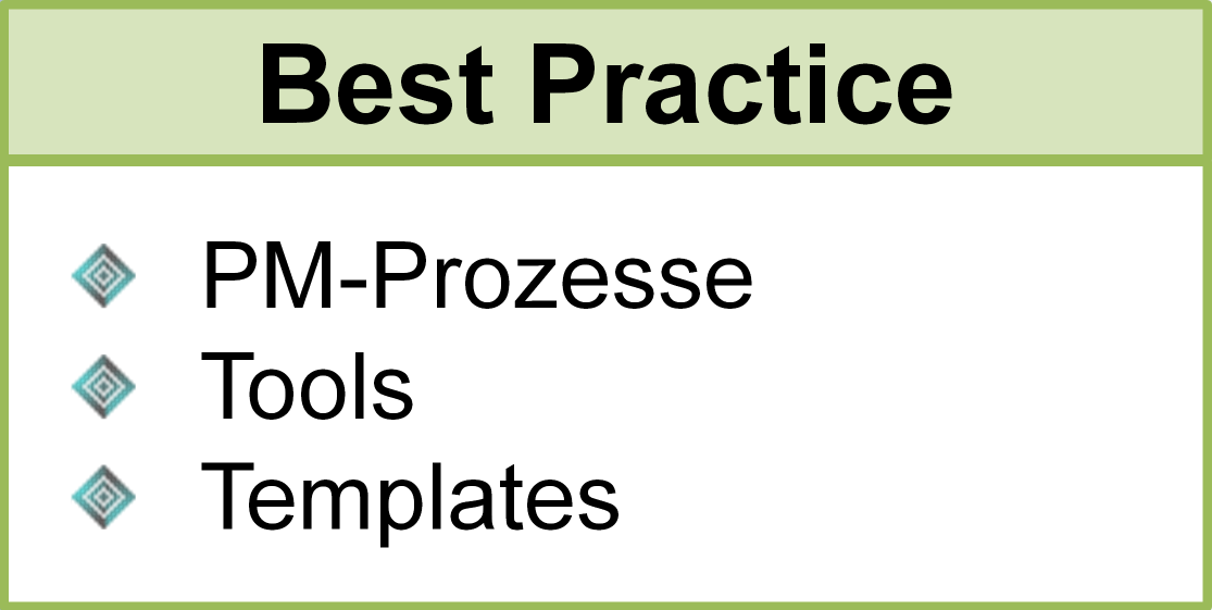 Best Practice, PM-Prozesse, Tools, Templates